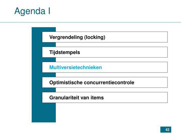 Agenda I