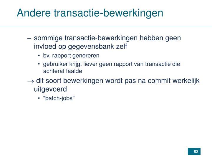 Andere transactie-bewerkingen