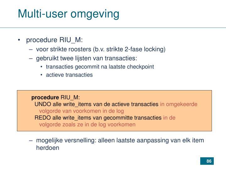 Multi-user omgeving
