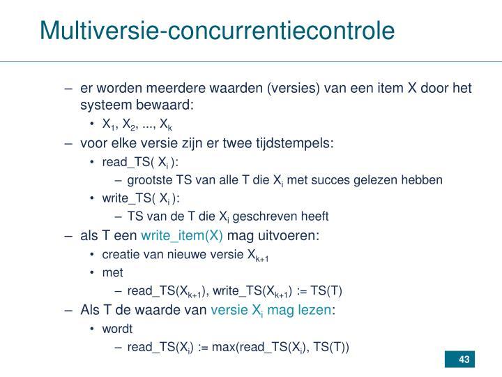 Multiversie-concurrentiecontrole
