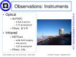 observations instruments