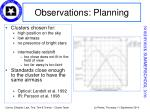 observations planning