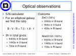 optical observations