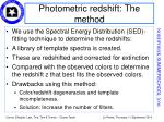 photometric redshift the method