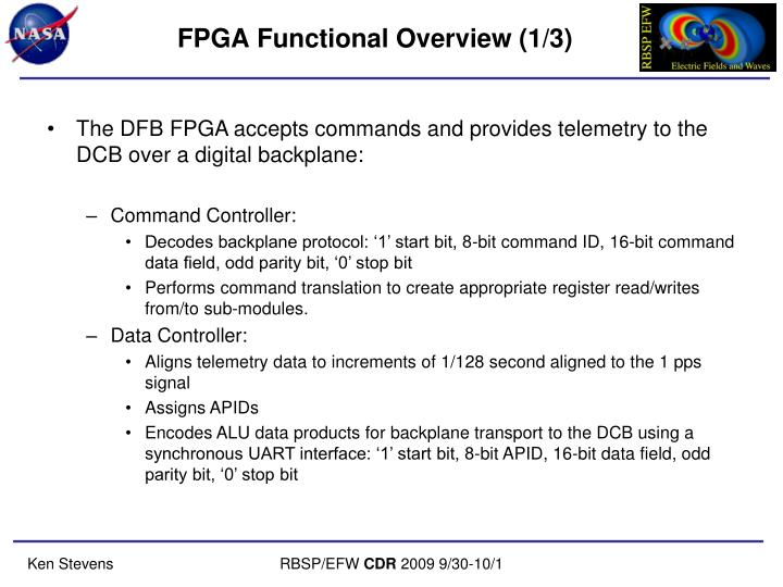 FPGA Functional Overview (1/3)