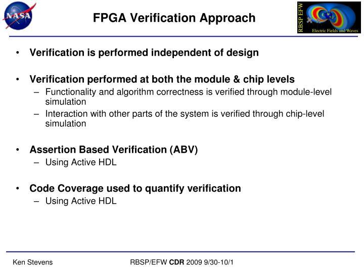 FPGA Verification Approach