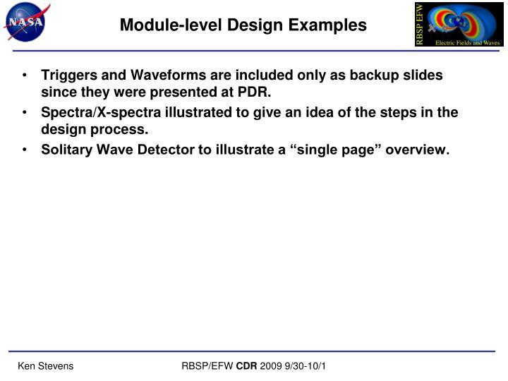 Module-level Design Examples