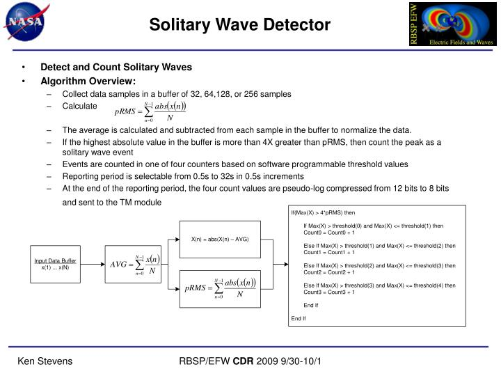 Solitary Wave Detector