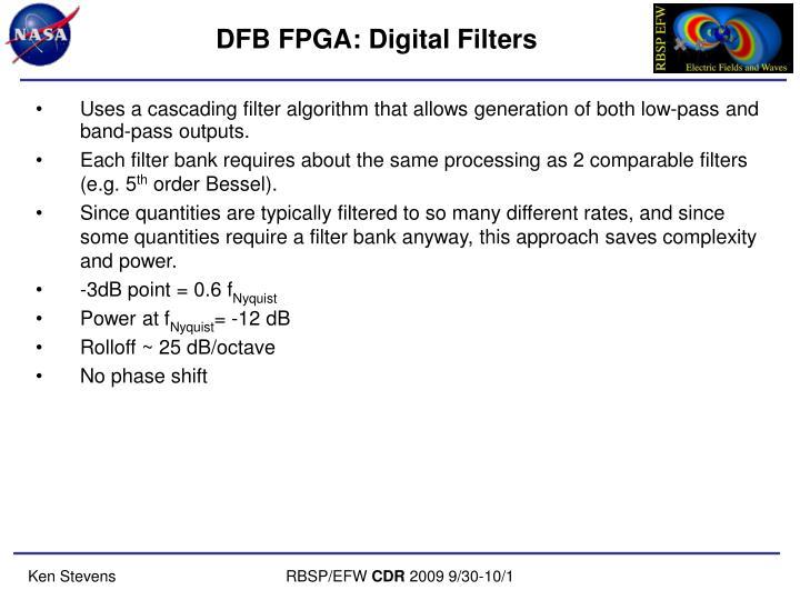 DFB FPGA: Digital Filters