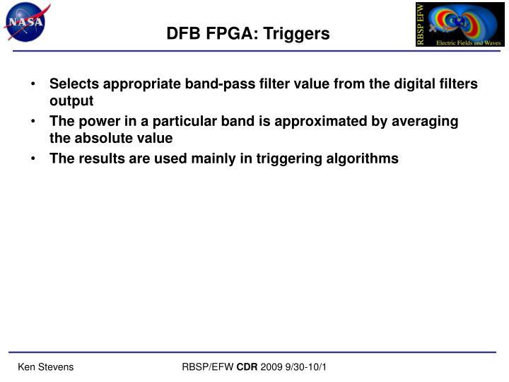 DFB FPGA: Triggers