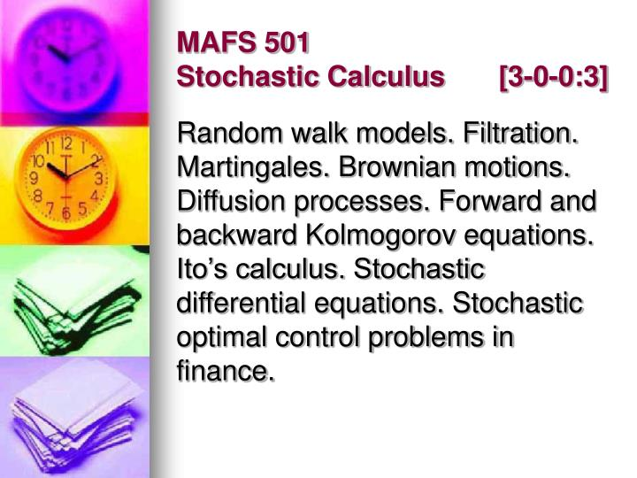 MAFS 501