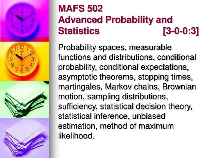 MAFS 502