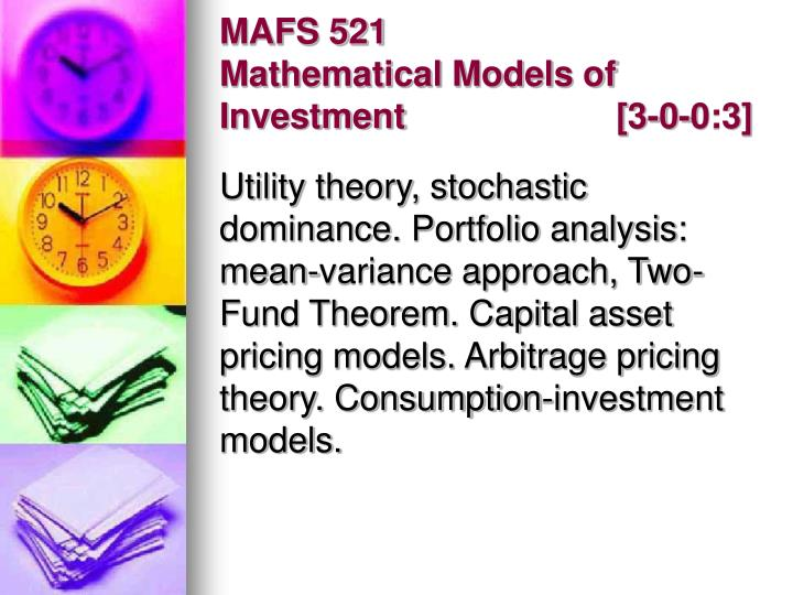MAFS 521