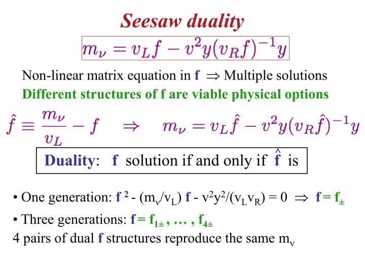 Seesaw duality