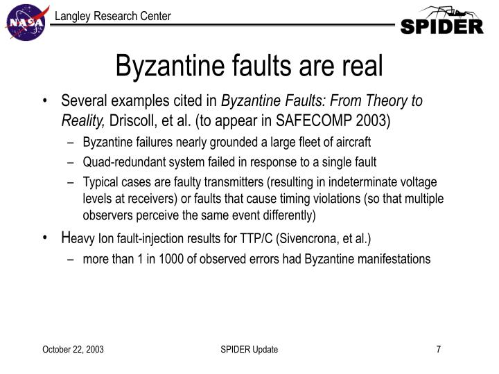 Byzantine faults are real