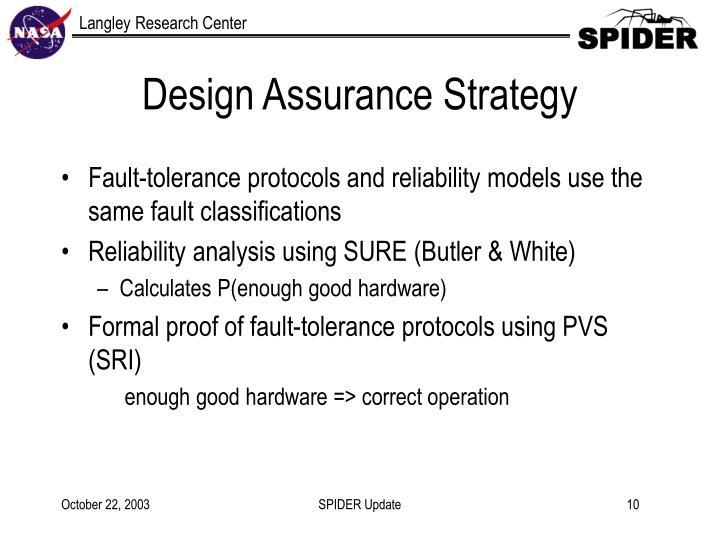 Design Assurance Strategy