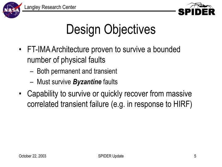 Design Objectives