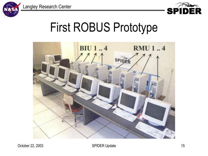 First ROBUS Prototype