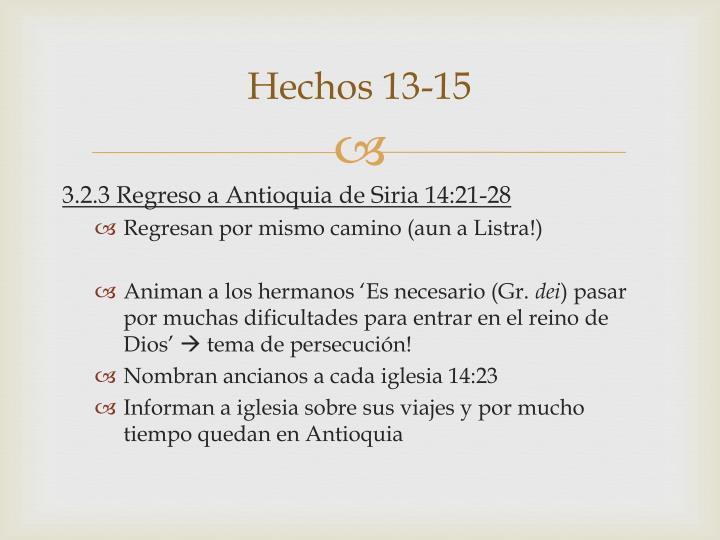 Hechos 13-15