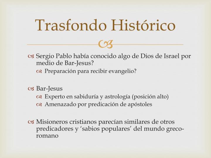 Trasfondo Histórico