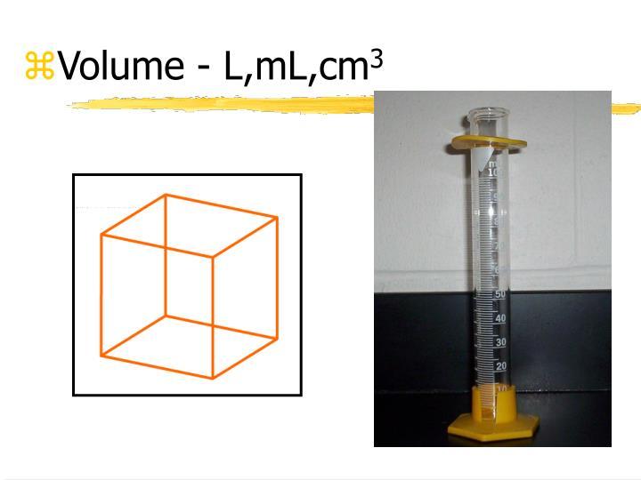 Volume - L,mL,cm