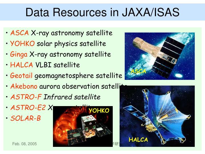 Data Resources in JAXA/ISAS