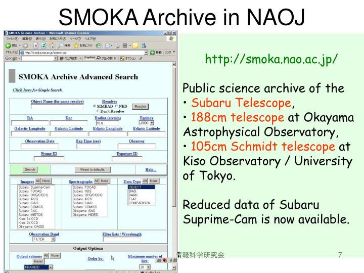 http://smoka.nao.ac.jp/
