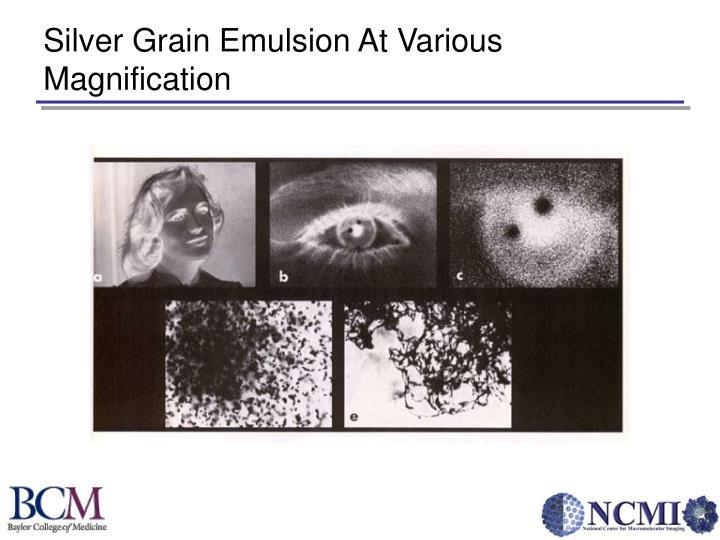 Silver Grain Emulsion At Various Magnification