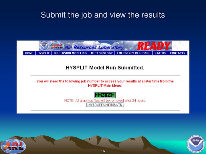 Submit the job and view the results