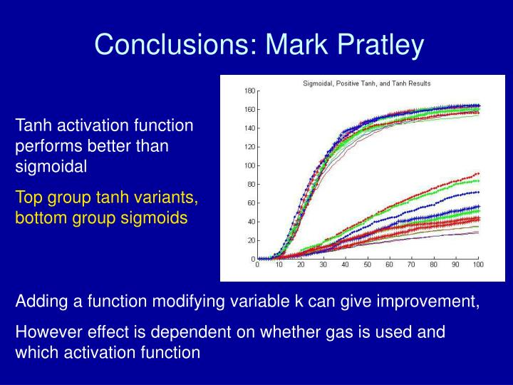 Conclusions: Mark Pratley