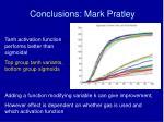 conclusions mark pratley