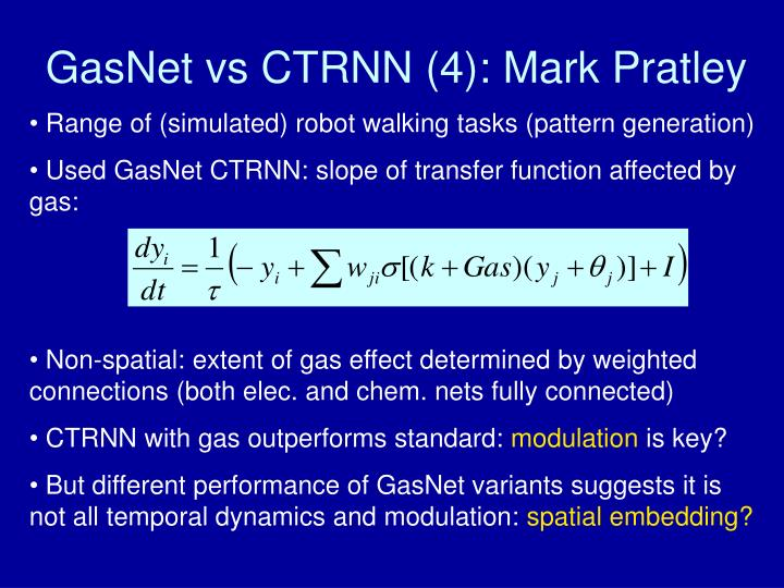 GasNet vs CTRNN (4): Mark Pratley