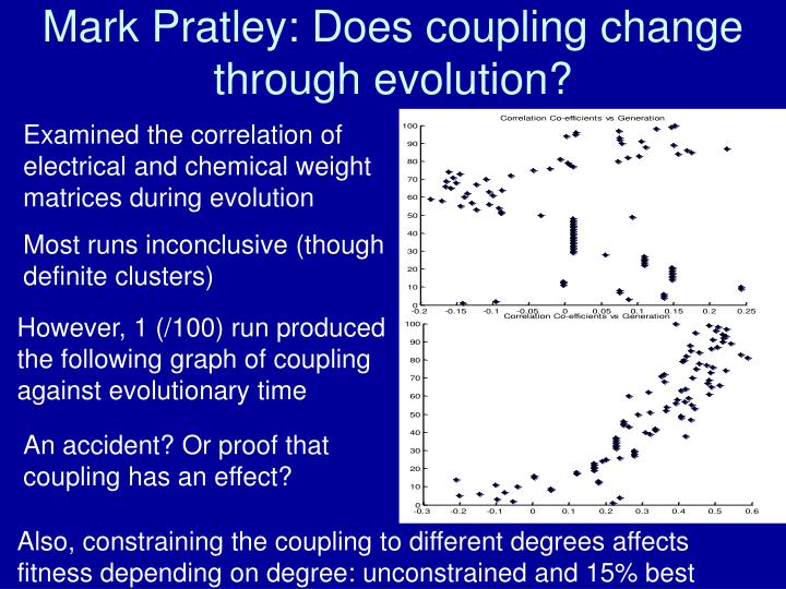 Mark Pratley: Does coupling change through evolution?