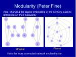 modularity peter fine