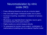 neuromodulation by nitric oxide no