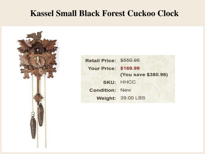 Kassel Small Black Forest Cuckoo Clock