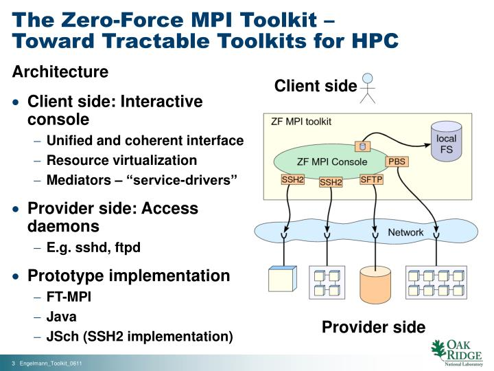 The zero force mpi toolkit toward tractable toolkits for hpc1