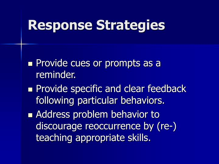 Response Strategies