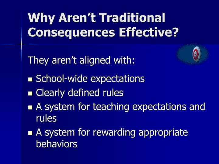 Why Aren't Traditional Consequences Effective?
