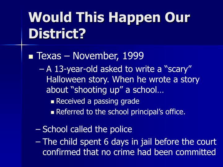Texas – November, 1999