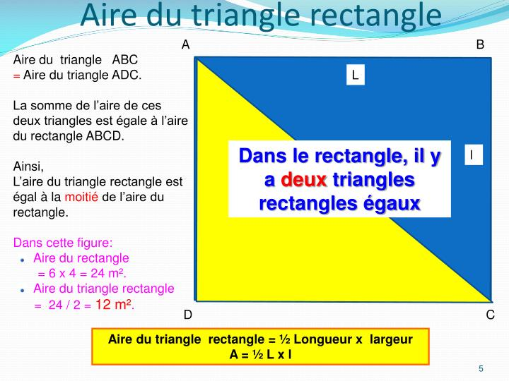Aire du triangle rectangle