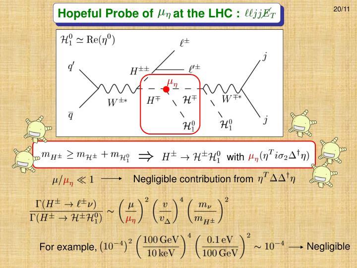 Hopeful Probe of      at the LHC :