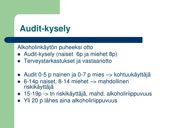 Audit-kysely