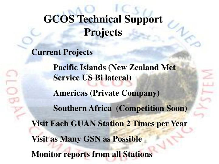 GCOS Technical Support Projects