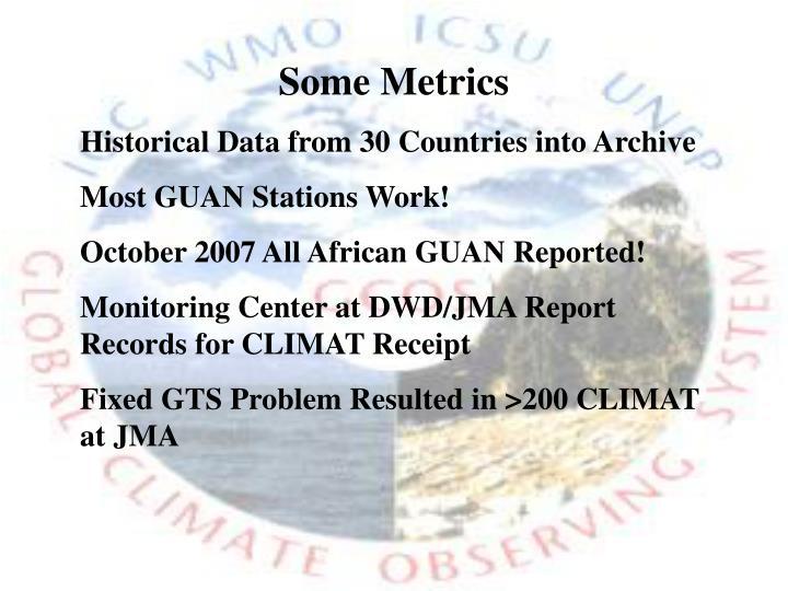 Some Metrics