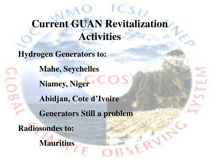 Current GUAN Revitalization Activities