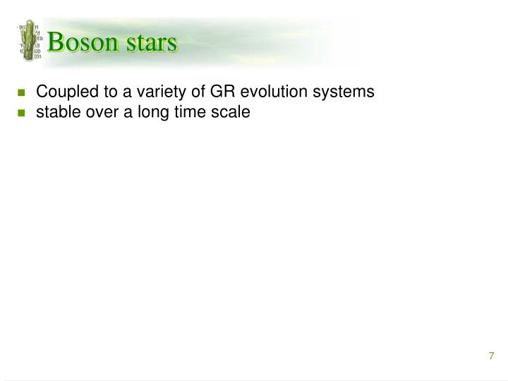 Boson stars