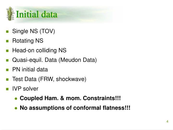 Initial data