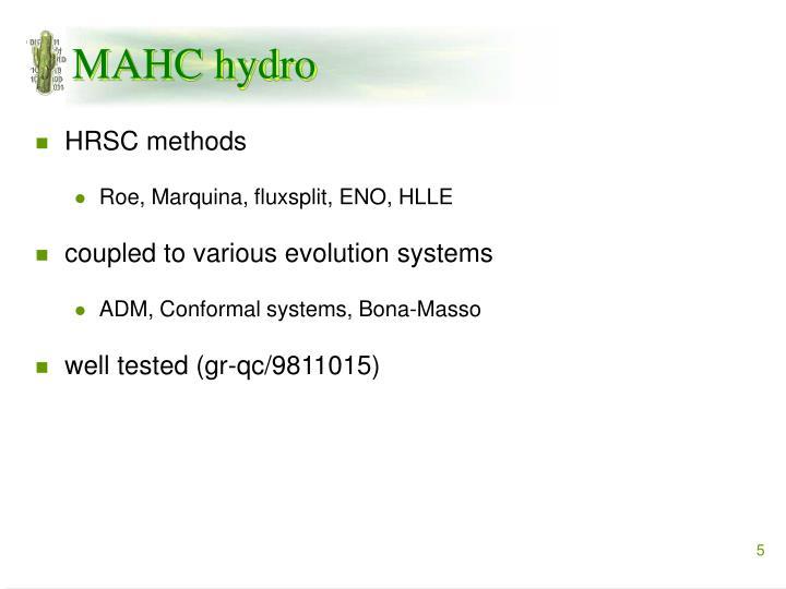 MAHC hydro