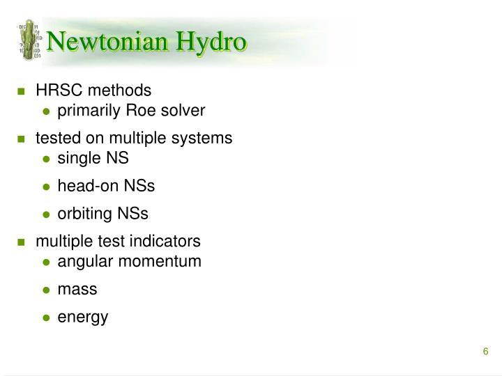 Newtonian Hydro